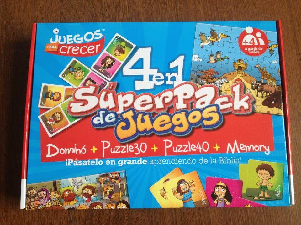 Súper pack de 4 juegos bíblicos en 1 (9780511920011