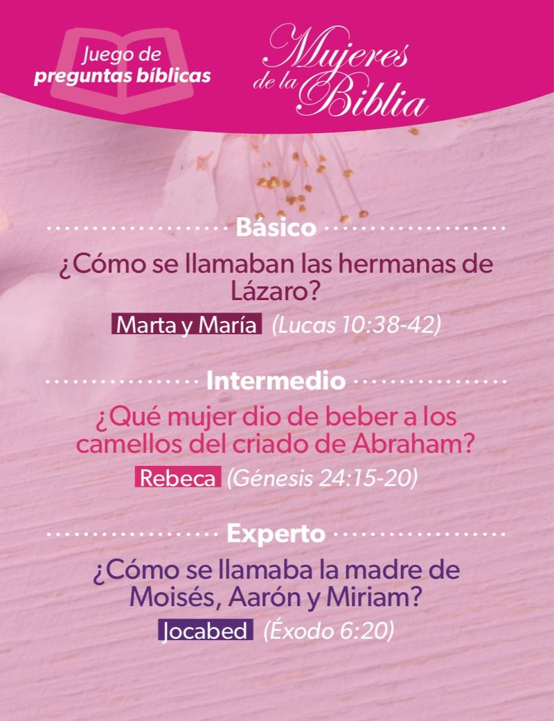 Mujeres De La Biblia Juego De Preguntas Biblicas Luciano S Gifts