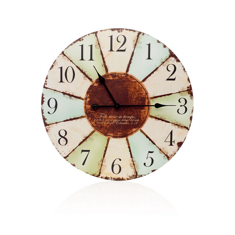 Todo tiene su tiempo reloj de pared madera con vers culo - Comprar mecanismo reloj pared ...