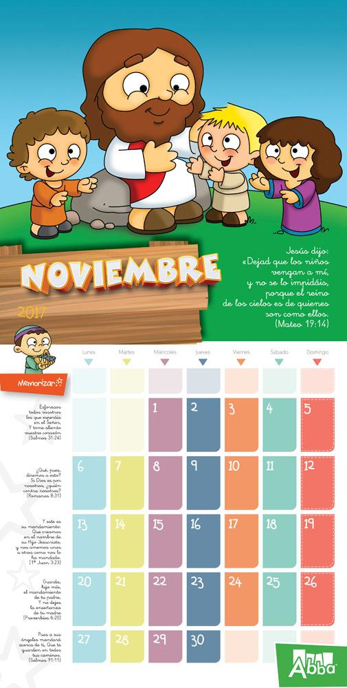 Calendario infantil abba 2017 abba 9780614920017 comprar libro - Mes noviembre 2017 ...
