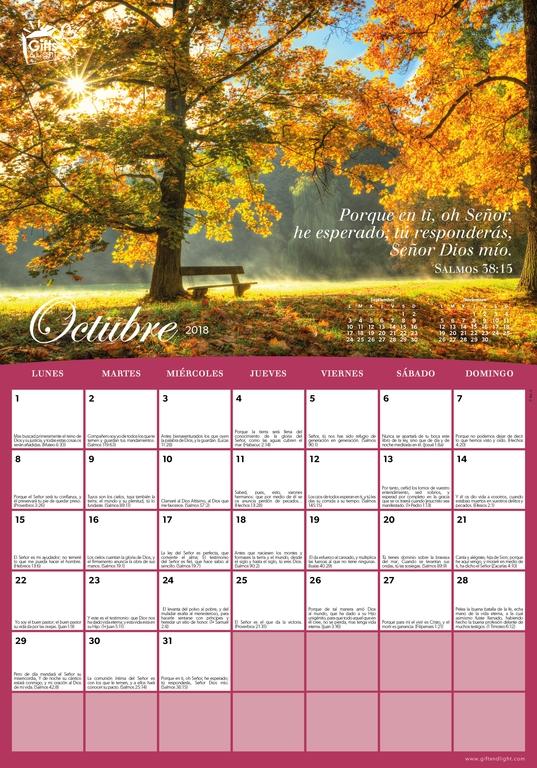 Calendarios 2018 Gratis