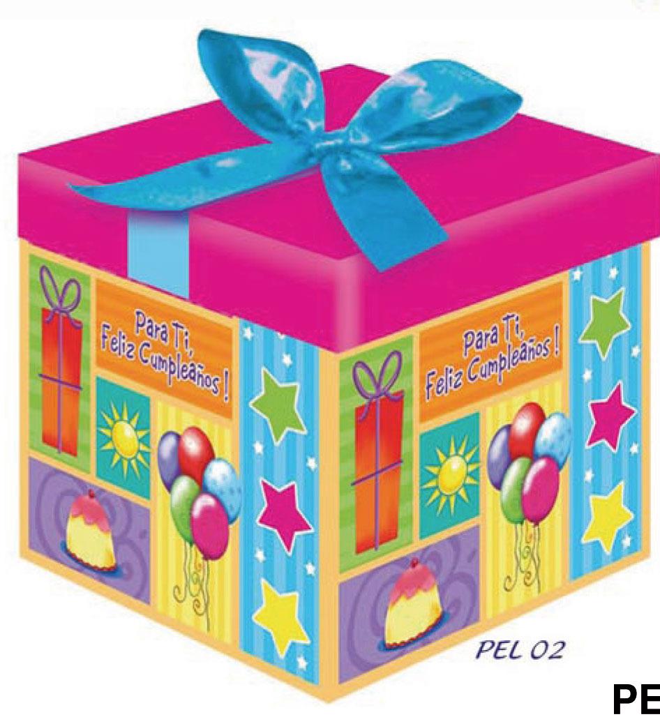 Caja de regalo con fotos