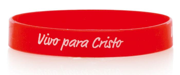 3bce457b4612 Pulsera silicona Vivo Para Cristo Roja Ancha - Gifts and Light ...