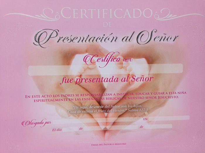 c1fe93649 Certificado de presentación niña. Paquete 20 unidades - Gifts and ...
