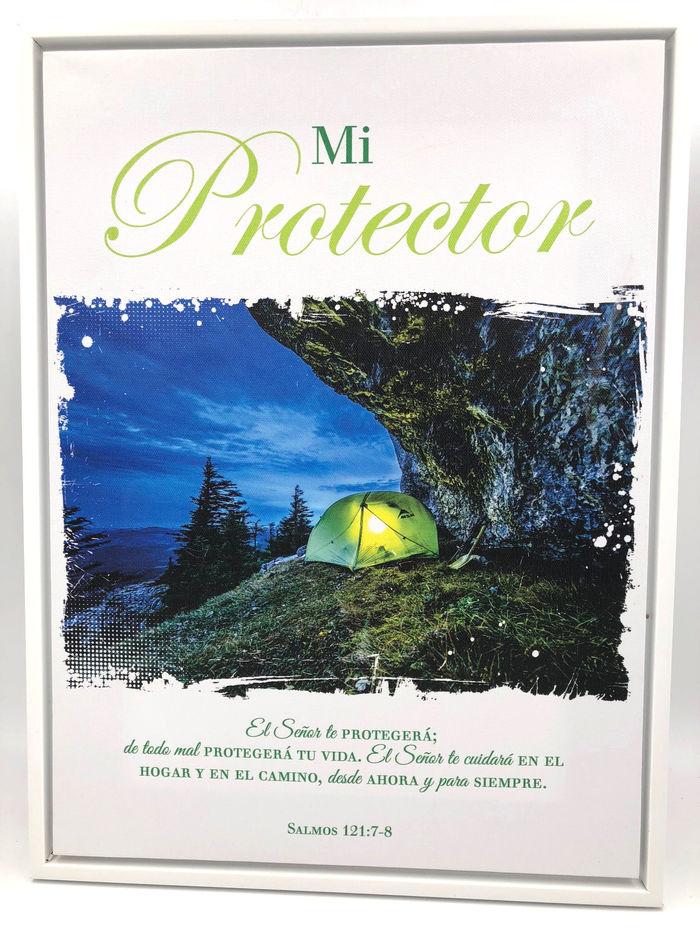 Mi Protector... Cuadro lienzo con marco blanco. Colección Blanca ...