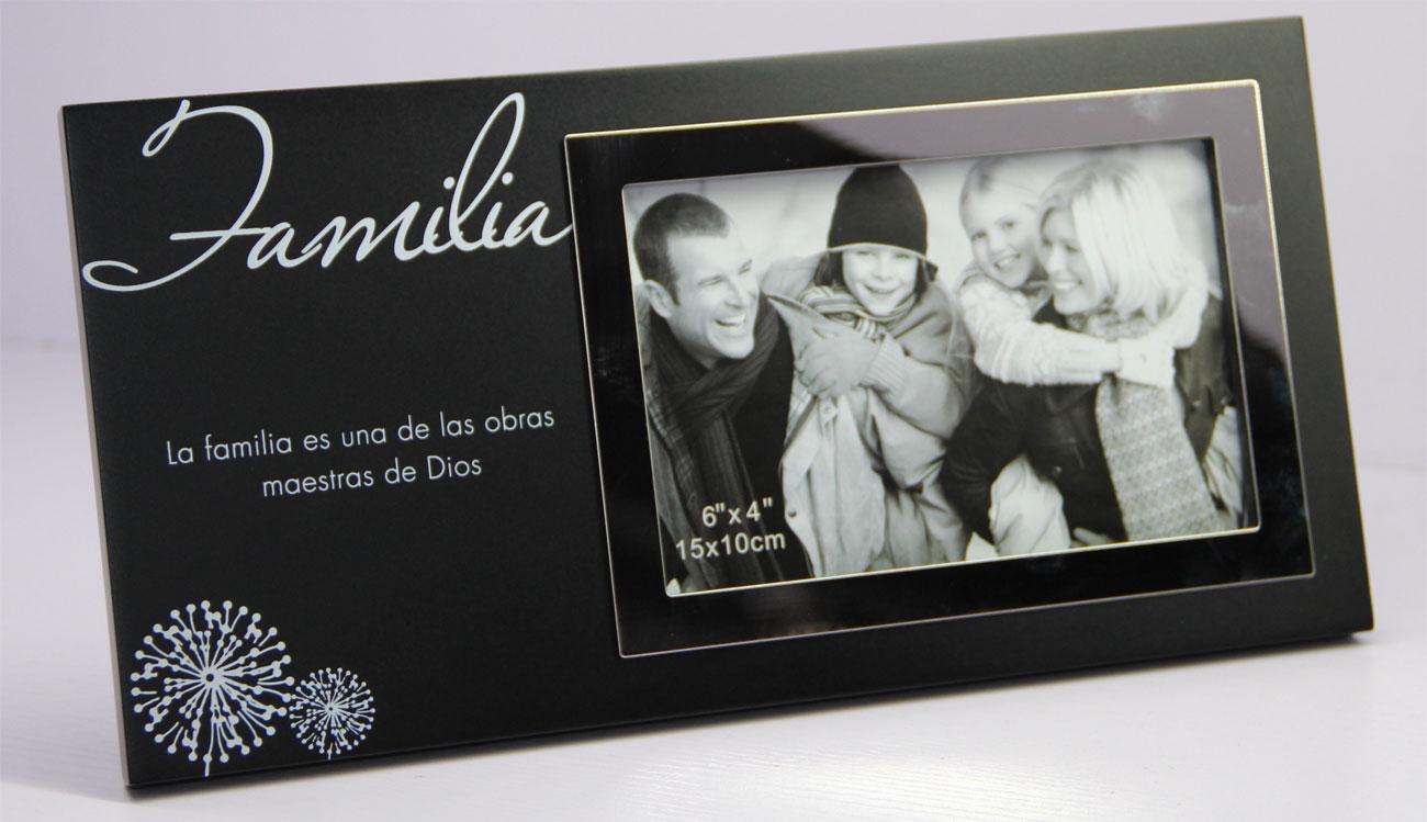Marco de fotos MMA4 madera negro con borde en acero: Familia - Gifts ...