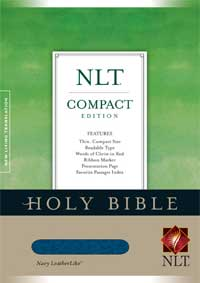 Compact Edition Bible NLT Leather like navy