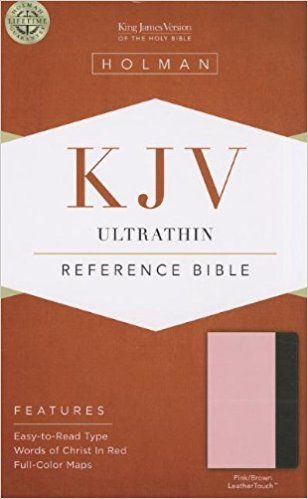Bible KJV Ultrathin reference Bible Pink/Brown LeatherTouch Imitation Leather (en ingles)