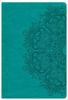 KJV Large Print Personal Size Reference Bible, Teal LeatherTouch, Thumb-Indexed