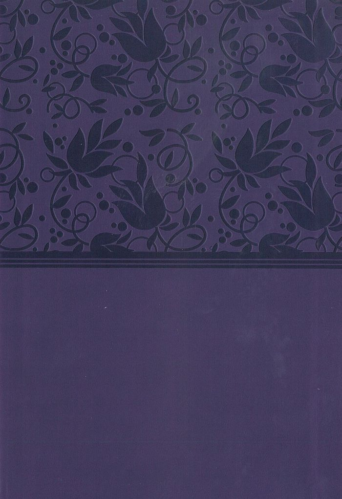 KJV LARGE PRINT PERSONAL REFERENCE BIBLE PURPLE LEATHERTOUCH