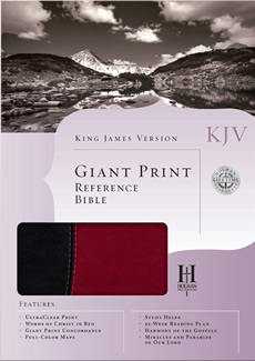 KJV Giant Print Reference Bible (Black/Burgundy Duotone)