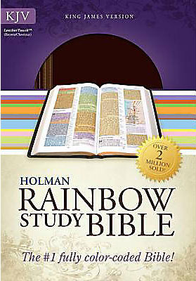 KJV Rainbow Study Bible Leather (Brown/Chestnut) (En inglés)