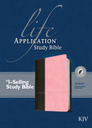 Life Application Study Bible KJV, TuTone Dark Brown/Pink indexed