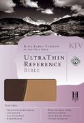 KJV UltraThin Reference Bible, Brown & Tan Simulated Leather
