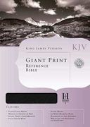 KJV Giant Print Reference Bible Black Bonded Leather (En inglés)