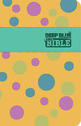 CEB Common English Bible Deep Blue Kids Bible Polka Dot Yellow